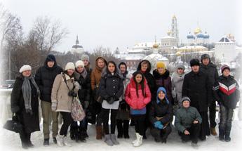поездка в Троице-Сергиеву Лавру с учащимися школы №5 2012 год